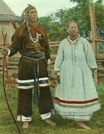 Iroquois couple, Kahnawaga (Caughnawaga, Quebec)