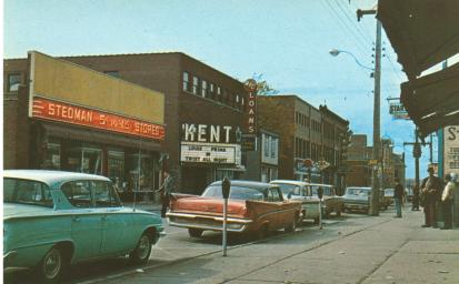 Vintage theatre, 1960s, classic cars, wing fins
