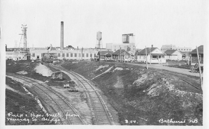Bathurst Pulp and Paper Mill _ New Brunswick historical images