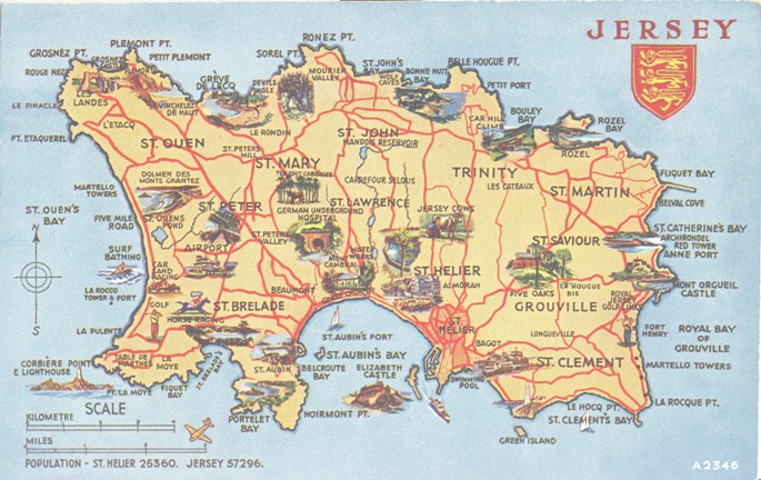 Map Of Jersey Channel Islands Index: Luces from Jersey (Channel Islands) to Canada « A Canadian  Map Of Jersey Channel Islands