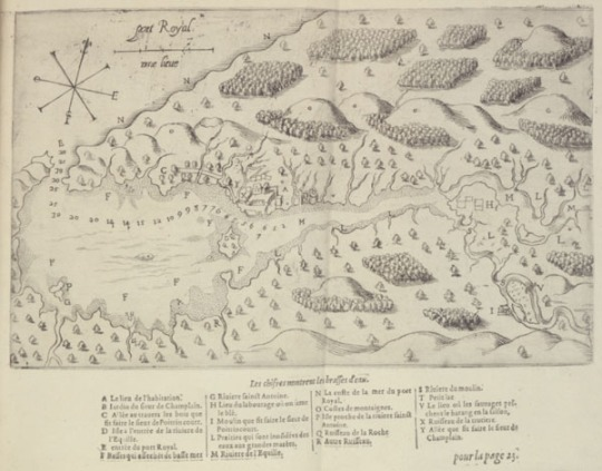 map-of-port-royal-by-champlain-1613