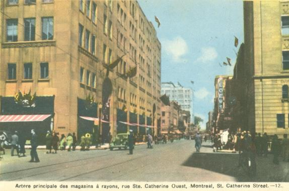 Scenes of st catherine street 3 10 montreal quebec a canadian family - Magasins rue sainte catherine ...