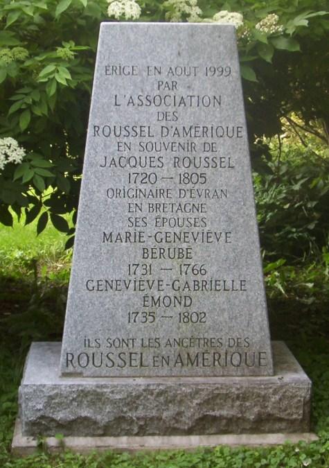 Berube, Emond, Roussel Memorial Headstone