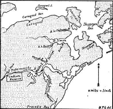 Caraquet, New Brunswick | historical map