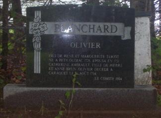 Blanchard Olivier Cemetery Ste-Anne-du-Bocage http://acanadianfamily.com