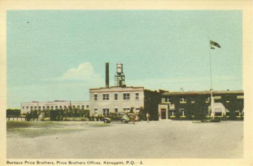 Vintage postcard of Kenogami Price Brothers Offices | Bureau Price Bros.