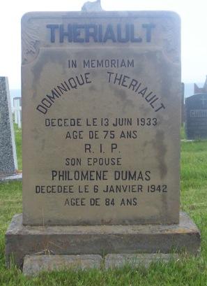 St.Simon & St.Jude Cemetery – Grande Anse, New Brunswick | Dumas, Theriault