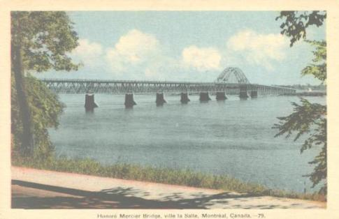 Honore Mercier Bridge, Ville Lasalle.  A Canadian Family Vintage Postcard Collection