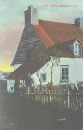 Vintage postcard | Quebec pioneer settlers | farm, peasants