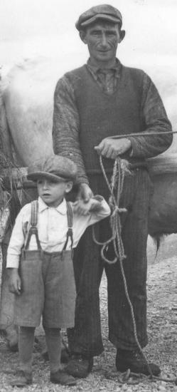 Pioneer man and boy