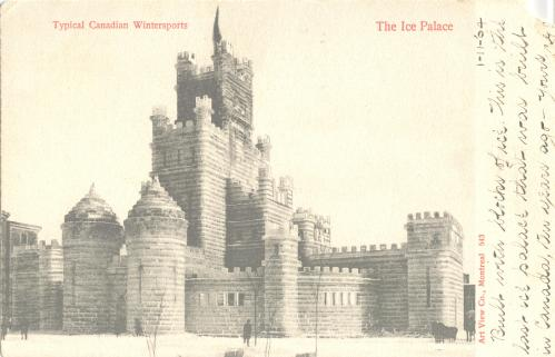 Montreal Winter Carnival | Castle made from block of ice | Vintage Winter Sports