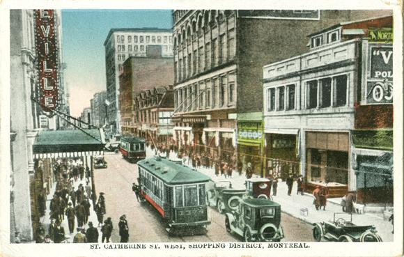 "Retro Vintage Montreal | ""St. Catherine St. West, Shopping District, Montreal"" 