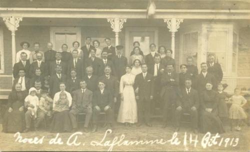 Wedding   A. Laflamme 14 Oct. 1913   Quebec, Lotbiniere, St. Flavien