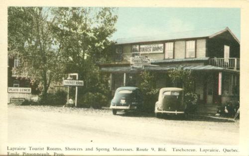 Laprairie Tourist Rooms, Showers and Spring Mattresses Route 9, Bld. Taschereau, Laprairie, Quebec Emile Pinsonneault, Prop.