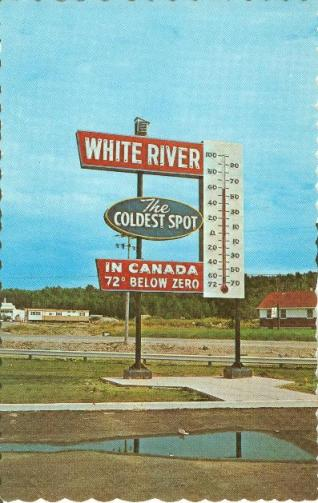 Algoma Ontario | Roadside Attraction | The Coldest Spot in Canada | Vintage sign | giant Thermometer