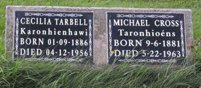 Cross, Tarbell | Kahnawake Catholic Cemetery | First Nations Genealogy