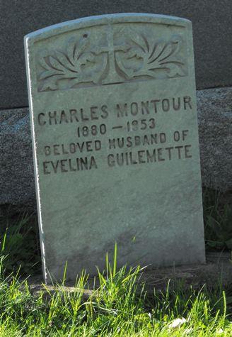 headstone, Charles Montour