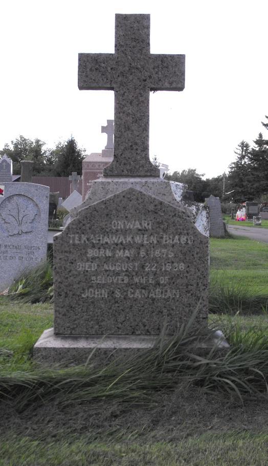 headstone, diabo m. John s. Canadien