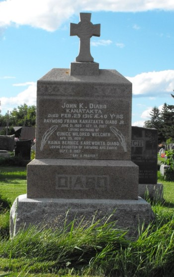 Diabo Kanatakta | Kahnawake Catholic Cemetery | First Nations Genealogy