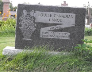 Canadian, Canoe | Kahnawake Catholic Cemetery | First Nations Genealogy