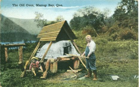 Traditional Gaspe Quebec Outdoor Clay Ovens | A Canadian Family Vintage Postcard Collection