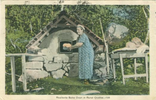 Outdoor bread oven | Canadian postcards