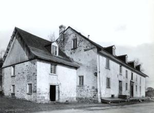 QUEBEC SURNAMES: Fiset + Savard LOCATIONS: Chateau-Richer | Historical view of Chateau Richer, Pointe Moulin, Quebec