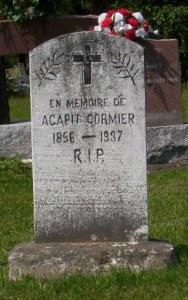 Headstone: CORMIER  | St. Joachim, Bertrand | New Brunswick Cemeteries