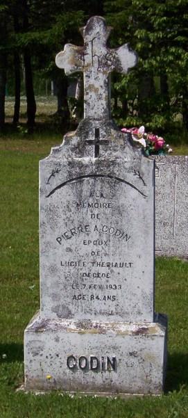 Headstone:   | St. Joachim, Bertrand | New Brunswick Cemeteries