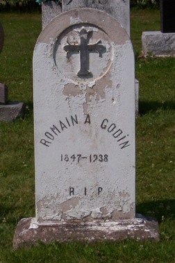 Headstone: GODIN   | St. Joachim, Bertrand | New Brunswick Cemeteries