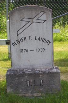 Headstone: LANDRY  | St. Joachim, Bertrand | New Brunswick Cemeteries