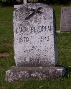 Headstone: BOUDREAU  | St. Joachim, Bertrand | New Brunswick Cemeteries