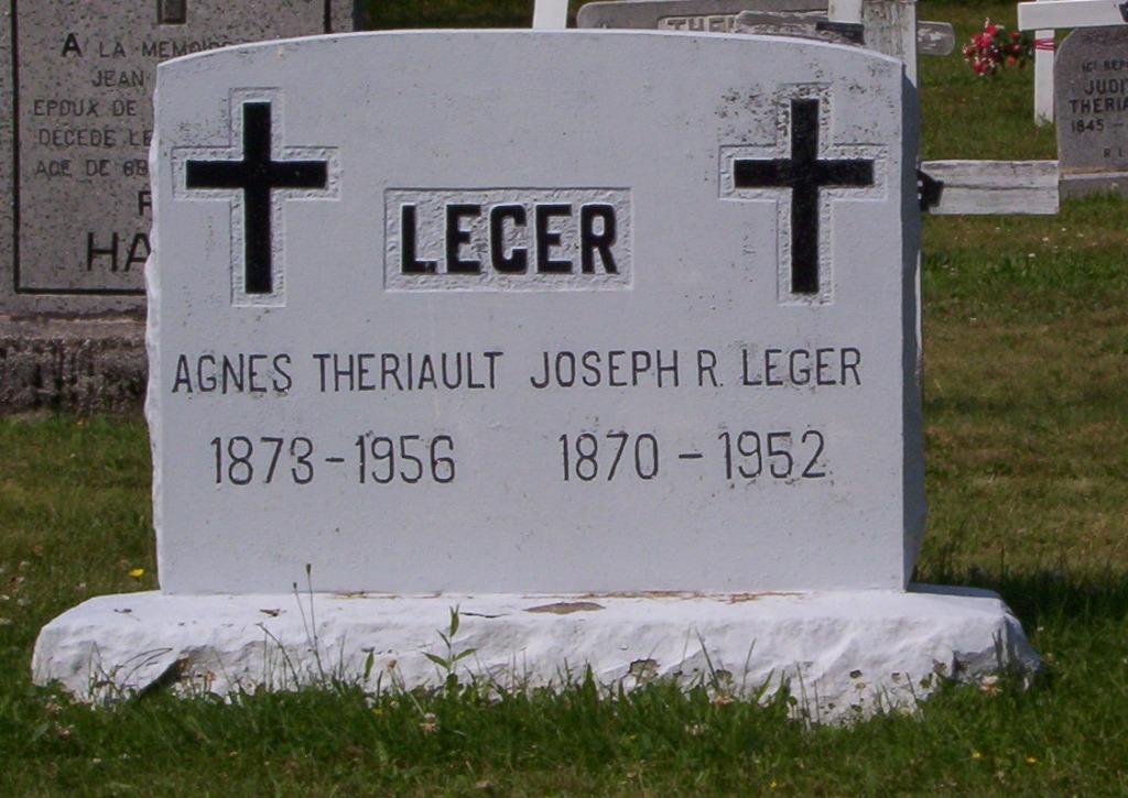 Leger, Joseph R 1952  Theriault Agnes 1956