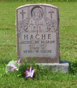 Headstone: MCGRAW    |  St. Joachim, Bertrand  | New Brunswick Cemeteries