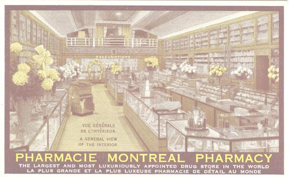 Montreal History | Jean Coutu | Quebec postcard