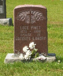 Headstone: PINET    |  St. Joachim, Bertrand  | New Brunswick Cemeteries