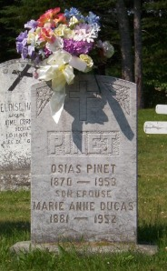 Pinet Dugas Genealogy | New Brunswick Cemeteries