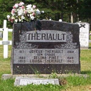 Headstone: PINET  | St. Joachim, Bertrand | New Brunswick Cemeteries