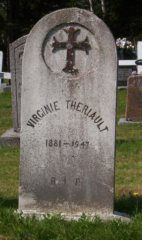 Headstone:  THERIAULT   |  St. Joachim, Bertrand  | New Brunswick Cemeteries