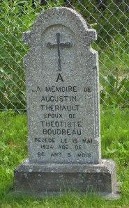 Headstone: THERIAULT  | St. Joachim, Bertrand | New Brunswick Cemeteries