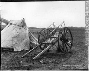 Traditional Metis camp in Western Canada in late 1880s - Source McCord Museum