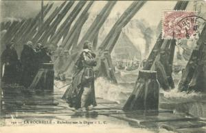 Cardinal Richelieu stand on the dikes at La Rochelle (France)