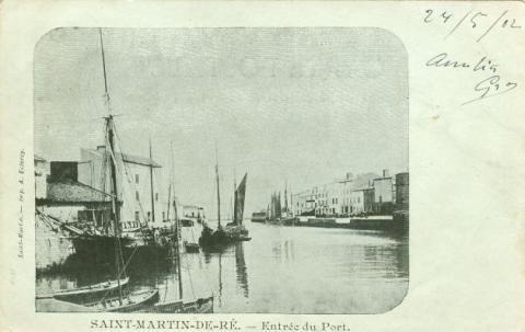 boats, port, Canadian Family Vintage Postcards