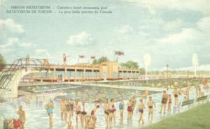 Verdun Natatorium Canada finest swimming pool Union jack over Canada