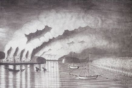 Acadian Expulsion   Attack by Monckton   Loyalists