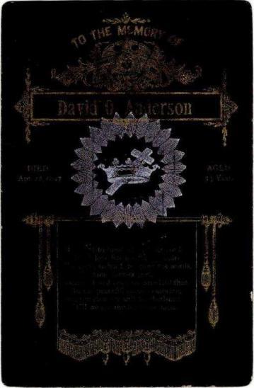 Anderson Memorial Card