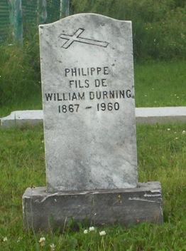 Headstone: DURNING  Val Brillant Cemetery   Quebec Cemeteries