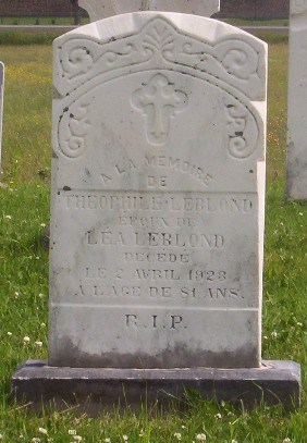 Headstone: LEBLOND |Val Brillant Cemetery | Quebec Cemeteries
