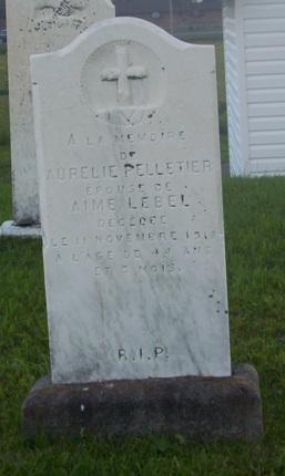 Headstone: PELLETIER | Val Brillant Cemetery | Quebec Headstones