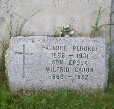 Headstone: PLOURDE |Val Brillant Cemetery | Quebec Cemeteries